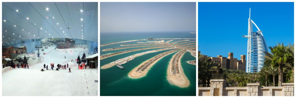 Dubai Mall Indoor Ski Resort... Manmade Palm Islands... Burj Al Arab